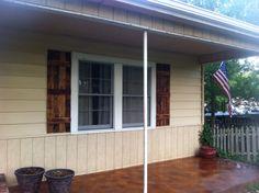 Handmade cedar shutters