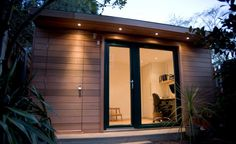 This garden office by eDEN incorporates a storage shed all under the one roof - much more attractive than a shed!