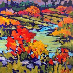 River Run by jill charuk Acrylic ~ 11 x 11