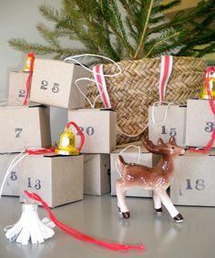 christmas & design: My Advent Calendar Advent Calendar Gifts, Advent Calenders, Diy Calendar, 12 Days Of Christmas, Christmas Countdown, Christmas Holidays, Christmas Decorations, Christmas Things, Simple Christmas