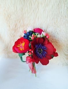 Crepe paper flower bouquet − handmade by Ameli's Lovely Creations