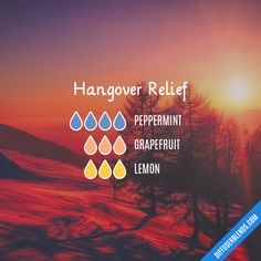 Hangover Relief - Essential Oil Diffuser Blend