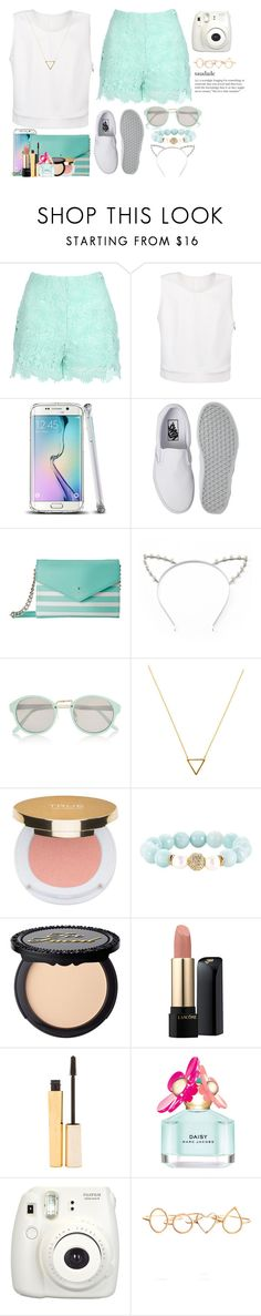 """aqua and white set.¸¸.*"" by deboradaniela ❤ liked on Polyvore featuring Jane Norman, Vans, Kate Spade, Candie's, River Island, Wanderlust + Co, Isaac Mizrahi, Devoted, Lancôme and Stila"