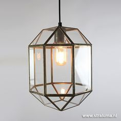 Søndersø hanglamp lantaarn glas gang - www.straluma.nl
