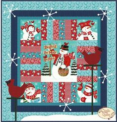 Be Jolly Quilt Kit Cozy Christmas, Christmas Time, Holiday, Winter Quilts, Quilting Tutorials, Quilting Ideas, Quilted Table Runners, Scrappy Quilts, Quilt Kits