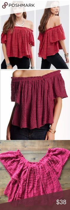 8b8698f15a0 Free People Thrills & Frills Off the Shoulder Top Free People Thrills and Frills  top in