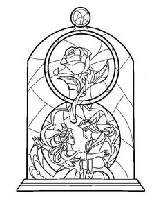 Beauty and the beast stained glass idea colour coming soon
