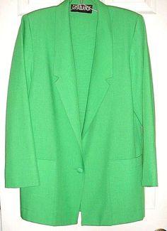 Casablanca Blazer Suit Jacket Green Single button 2 pockets Size 6 NWOT #Casablanca #Blazer