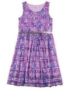Printed Lace Belted Dress | Girls Dresses Clothes | Shop Justice