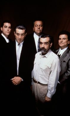 Goodfellas cast and director Martin Scorsese Martin Scorsese, Ray Liotta, Gangster Films, Film Director, Movie Characters, Best Actor, Great Movies, Film Movie, Robert De Niro
