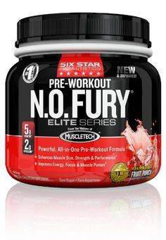 Six Star Pro Nutrition Elite Series Nitric Oxide Fury. Clinically proven ingredient builds more size and strength - Fruit Punch - Pre-Workout Powder Best Pre Workout Supplement, Nitric Oxide Supplements, Health And Wellness, Health Fitness, Bodybuilding Supplements, Fruit Punch, Better Health, Powder, Strength