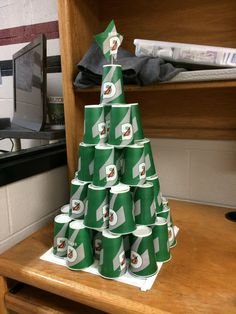 Athletic Training Christmas. I should make this for my ATR- but I'm sure my kids would dismantle it to get cups of ice. haha