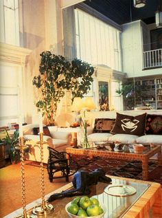 I remember loving these images of Candace Bergen's apartment back in the 80's