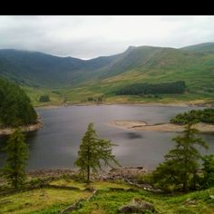 Haweswater Reservoir last year when it was low water. The sunken village of Mardale was slowly emerging from the deep.................