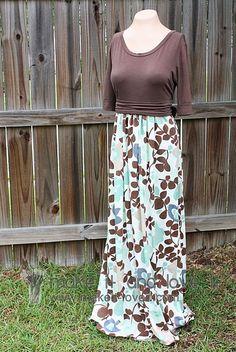 Fall Maxi Dress Tutorial