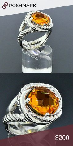 AUTHENTIC DAVID YURMAN RING AUTHENTIC DAVID YURMAN INFINITY 11MM CITRINE STERLING SILVER RING SIZE 7. BARELY WORN. NO TRADES. PRICE FIRM. SELLING FOR A RELATIVE. NOT ABLE TO NEGOTIATE. SORRY POSH FAM. David Yurman Jewelry Rings