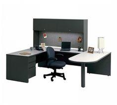 Large Desktop Space with Storage - Executive U Shaped Desks    #U_Shaped_Desks