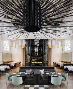 Piet Boon Studio Transformed A church Into 'The Jane' Restaurant in Antwerp   http://www.yatzer.com/the-jane-antwerp-piet-boon photo by Richard Powers.