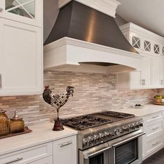 Love this white and grey kitchen!