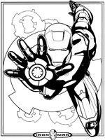 Coloriage Iron Man à colorier - Dessin à imprimer