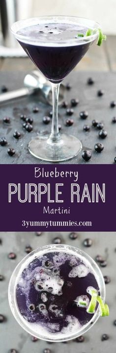 This martini is the perfect fusion of Blueberry Vodka, Blue Curacao and fruit juices with an added ingredient to give you the perfect purple cocktail! #cocktailrecipes