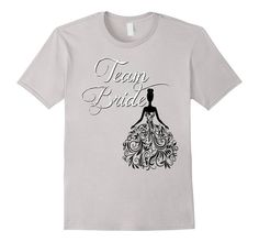 Amazon.com: Team Bride Shirt Black Wedding Bachelorette Bridal Party: Clothing