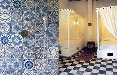 Fez tiles voor in de badkamer, via householdhardware.nl
