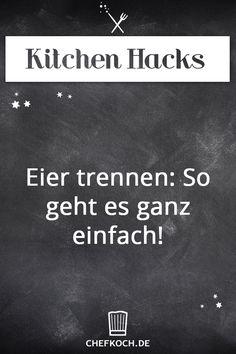 Kitchen Hack: Eier trennen - So geht es ganz einfach!