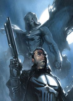 The Punisher and Moon Knight by Gabriele Dell'otto