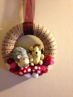 cute hedgehog wreath