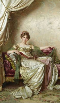 Elegante. Frédéric Soulacroix (French, 1858-1933). Soulacroix entered the Ecole des Beaux-Arts and began showing his works at the Paris Salon in 1849. Soulacroix's greatest gifts lay in the art of...