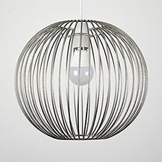 These stylish wire basket ceiling shades come in a metal finish. They are a great way to update any room of your home - they simply fit to your existing light socket, no wiring required! Ideal for lounges, bedrooms, hallways and other living areas! Ceiling Pendant, Ceiling Lights, Metal Baskets, Wire Basket, Ceiling Shades, Metal Finishes, Light Shades, Chrome Finish, Stairs