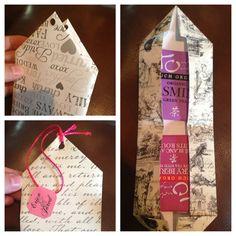 DIY Big tea bag as party favors for tea themed bridal shower