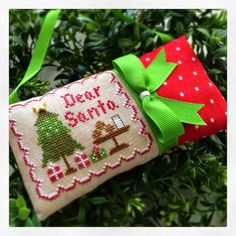 """Learn to finish with the Twisted Stitcher: Country Cottage Needleworks """"Dear Santa"""" Ornament Finishing..."""