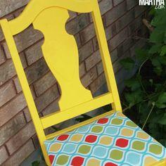 Yellow Garden Chair Makeover - Becoming Martha