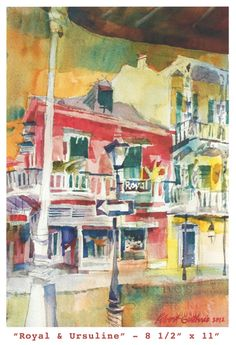 """Royal & Ursuline"" by Robert Guthrie at New Orleans' Gallery Rinard"
