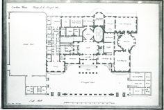Here is the ground floor plan of Carlton House as designed by Henry Holland, who also designed the original Marine Pavilion at Brighton. The Prince Regent must have tired of Holland's beautiful neo-classical architecture because he had The Pavilion totally tarted up and wanted to demolish and rebuilt Carlton House.  No one ever said he had good taste.