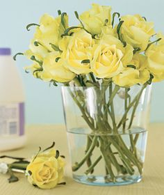 Bleach as Flower Preserver - To get more bang for your bouquet, add a few drops of bleach to the water to prevent bacteria growth and keep stems from mildewing.