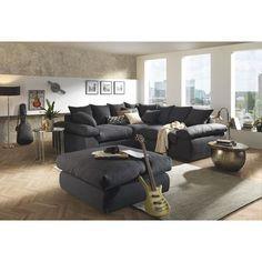 WOHNLANDSCHAFT in Dunkelgrau Textil - Polstermöbel - Polstermöbel, Sofas & Sessel - Wohn- & Esszimmer - Produkte
