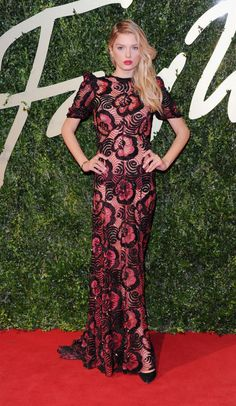 Lily Donaldson wearing Marc Jacobs SS14 for the British Fashion Council Awards