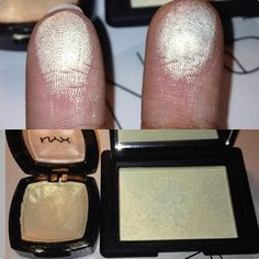 """NYX """"Vanilla Sky"""" is a dupe for NARS """"Albatross"""" if anyone wants to know yes it's an eyeshadow but who cares lol they look almost exactly the same. Vanilla sky is just a tad bit more golden and it's around 5-7bucks I think. Why not! #Padgram"""