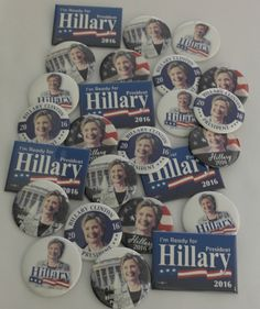 2016 Hillary Clinton Campaign Buttons 25 Brand New Buttons!