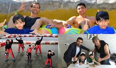 See Pictures of Hrithik Roshan and his sons in Dubai : MagnaMags
