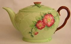 Wild Rose : Green : Teapot