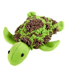 Proggy Kit- Turtle Green. Like rag rug construction. DIY- able. Fleece strips, could use t shirt scraps...