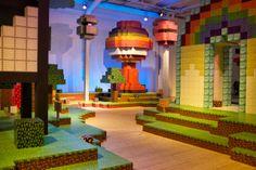 Blockholm - the human sized Minecraft version of Stockholm at the Arkitektur- och designcentrum.