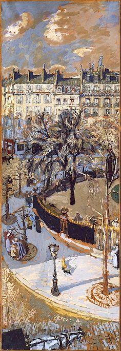 "Galeria Y❤B <> Edouard Vuillard: ""Place Vintimille"", Paris, Guggenheim Museum, NYC. Pierre Bonnard, Edouard Vuillard, Monet, Maurice Utrillo, Paul Gauguin, Klimt, Renoir, Oeuvre D'art, Les Oeuvres"