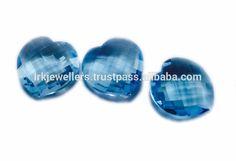 Beautiful Heart Shape Blue Topaz Fancy Cut Natual Loose Gemstone