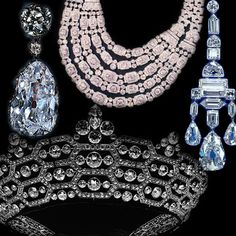 There are about ten known pieces in the legacy which Mrs. Greville left to Queen Elizabeth. Thebest-known of these is the Boucheron honeycomb tiara (seen here in its original form), consisting of diamonds set in platinum in a contemporary honeycomb/lozengedesign. The tiara was created for Mrs Greville by the French jeweller Boucheron in 1921.It was to became Queen Elizabeth's signature piece after the King's death, and she wore itconsistently throughout her life, well into old age