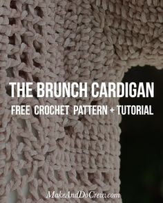 Easy Crochet Cardigan Made from Two Hexagons - Free Pattern! This incredibly comfortable crochet cardigan sweater from Make & Do Co is simpler than it looks. Débardeurs Au Crochet, Pull Crochet, Crochet Patron, Crochet Cardigan Pattern, Crochet Blouse, Crochet Shawl, Free Crochet, Hexagon Crochet, Crochet Gratis